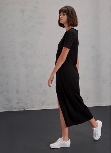 Pi π İki Renk Elbise Siyah